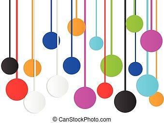 círculo, coloridos, abstratos, fundo
