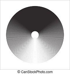 círculo concéntrico, elementos, backgrounds., resumen, círculo, pattern., negro y blanco, graphics.