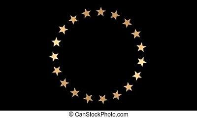 círculo, de, estrelas