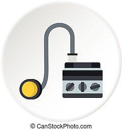 círculo, detonador, icono
