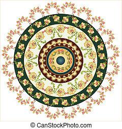 círculo, diseño, turco