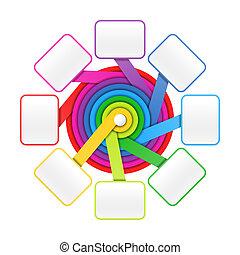 círculo, elementos, oito
