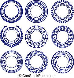 círculo, elementos, patrón