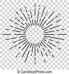 círculo, explosión, efecto, plano de fondo, redondeado, sol...