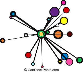 círculo, explosión