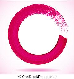 círculo, fr, vetorial, magenta, pincel