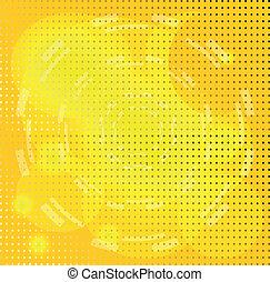 círculo, fundo amarelo