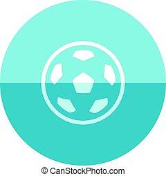 círculo, futebol, -, ícone