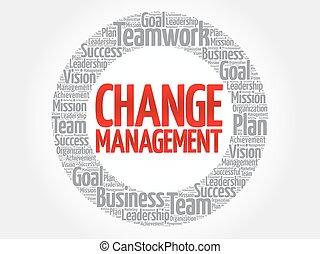 círculo, gerência, mudança
