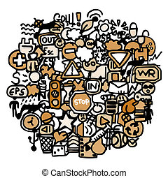 círculo, grupo, pessoas