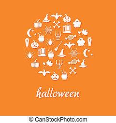 círculo,  Halloween, iconos