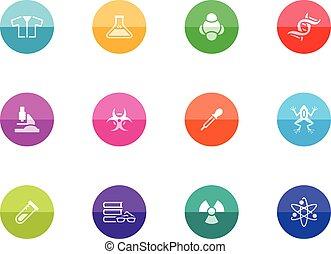 círculo, iconos, -, ciencia