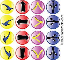 círculo, ilustração, sinais