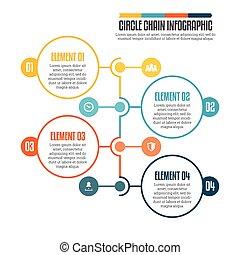 círculo,  infographic, cadena