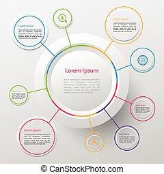 círculo, infographic