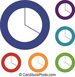 círculo, infographic, jogo, mapa, ícones