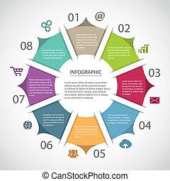 círculo, infographic, plantilla
