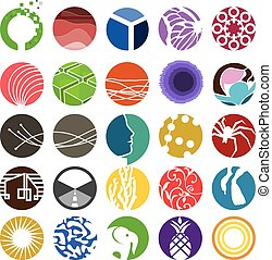 círculo, jogo, 01, ícone