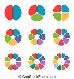 círculo, jogo, segmento