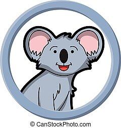 círculo, koala, bandeira