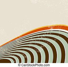 círculo, linhas, retro, fundo