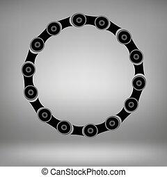 círculo, marco, cadena