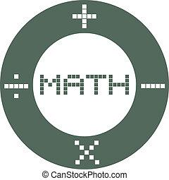 círculo, matemática