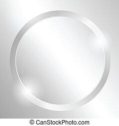 círculo, metal, plano de fondo