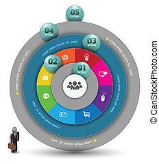 círculo, modelo, ininterrupto