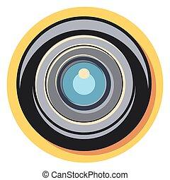 círculo, objektiv, shadow.eps, icono