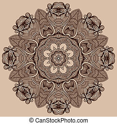 círculo, ornamento, ornamental, redondo, renda
