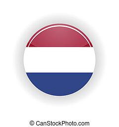 círculo, países bajos, icono