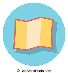 círculo, papel, shadow.eps, icono