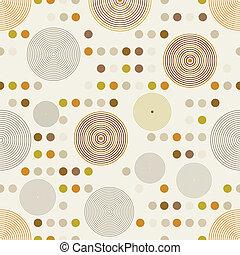círculo, pattern.