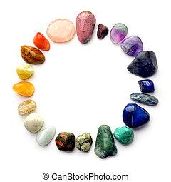 círculo, piedras preciosas