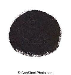 círculo preto, bandeira, acrílico