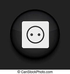 círculo preto, vetorial, eps10, icon.