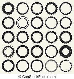 círculo, quadro, jogo