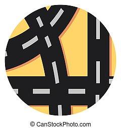 círculo, shadow.eps, camino, icono