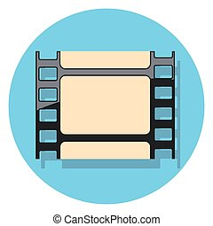 círculo, shadow.eps, película, icono