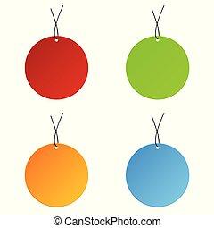 círculo, tag, jogo, venda, ilustração