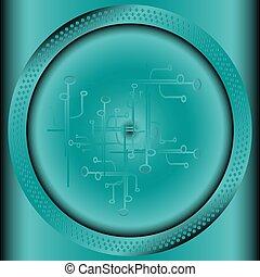 círculo, tecnologia, fundo