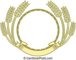 círculo, trigo