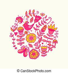 círculo, vector, ilustración, hecho