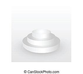 círculo, vencedor, pódio