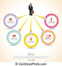 círculo, vetorial, conceito negócio