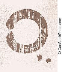 círculo, zen, ilustração