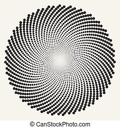 círculos, abstratos, espiral, redondo, vetorial, pretas, redemoinho, branca, ilusão, óptico