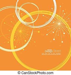 círculos, abstratos, experiência colorida