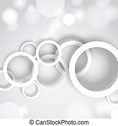 círculos, abstratos, fundo branco